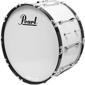 Pearl GROSSE CAISSE MARCHING COMP. 26x14 BLANC