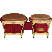 Pearl BONGOS 7+ 9 BIG BELLY HAVANA RED TIGER STRIPE