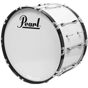 Pearl GROSSE CAISSE MARCHING COMP. 18x14 BLANC